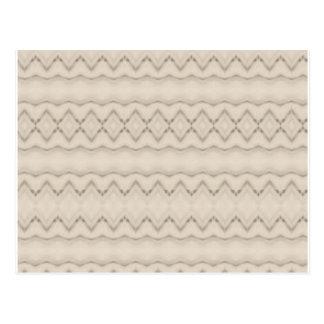 Tribal Feather Zig Zag Pattern Design Postcard
