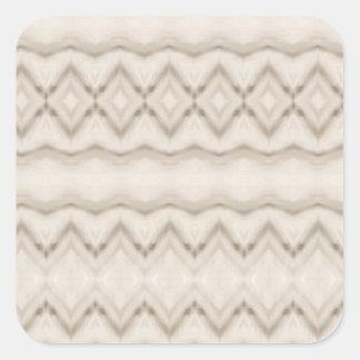 Tribal Feather Zig Zag Pattern Design Square Sticker