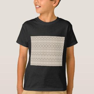 Tribal Feather Zig Zag Pattern Design T-Shirt