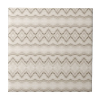 Tribal Feather Zig Zag Pattern Design Tile