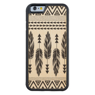 Tribal Feathers Maple Wood iPhone 6 Case