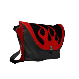 Tribal Fire Flames messenger bag