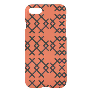 Tribal Flame Orange Nomad Geometric Shapes iPhone 7 Case