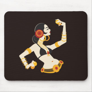tribal fusion belly dancer with cymbals mouse pad