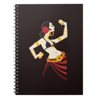 tribal fusion belly dancer with cymbals notebook