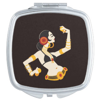 tribal fusion belly dancer with cymbals vanity mirror