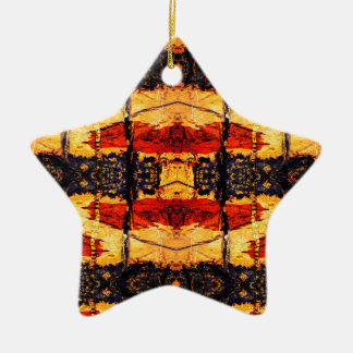 Tribal Fusion Ceramic Ornament