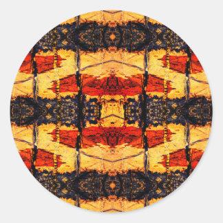 Tribal Fusion Classic Round Sticker