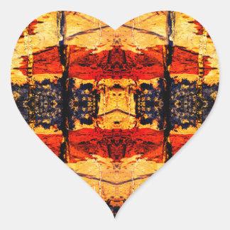 Tribal Fusion Heart Sticker