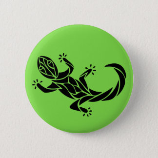Tribal Gecko 2 Inch Round Button