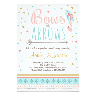 Tribal Gender reveal invitation Boy or Girl