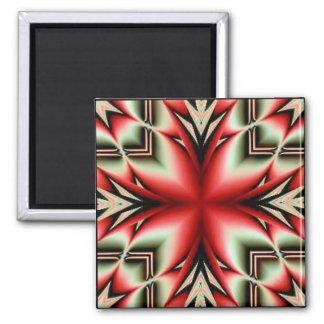tribal geo flower magnet