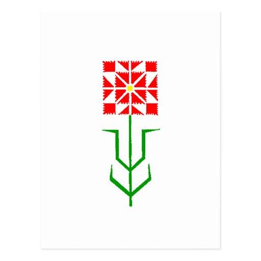 tribal geometric ethnic art post card