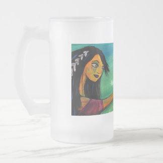 Tribal Girl - frosty mug