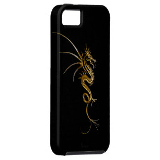 Tribal Gold Dragon Fantasy Art iPhone Case