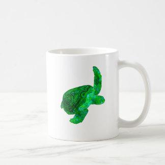 Tribal Green Sea Turtle Coffee Mug
