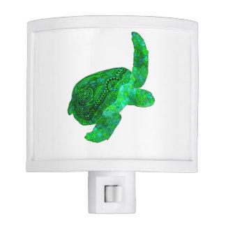 Tribal Green Sea Turtle Night Lite