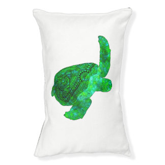 Tribal Green Sea Turtle Pet Bed