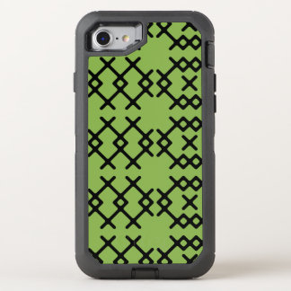Tribal Greenery Green Nomad Geometric Shapes OtterBox Defender iPhone 7 Case