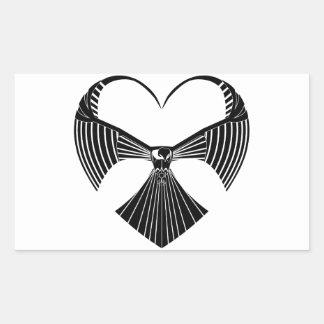 Tribal Hawk Valentines Day Heart Sticker