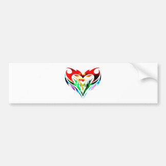 Tribal Heart Bumper Sticker