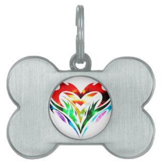 Tribal Heart Pet ID Tag