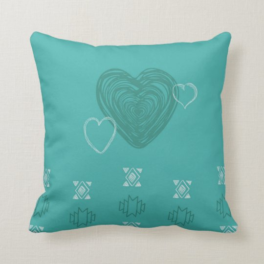 tribal hearts pillow