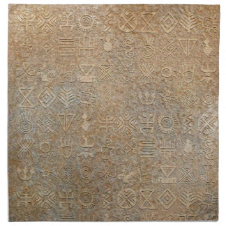 Tribal Hieroglyphics Napkin Set