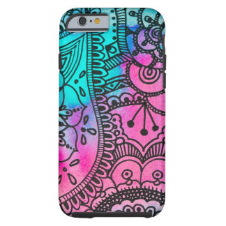 Tribal Hippie Pattern - Aqua and Pink By Megaflora Tough iPhone 6 Case