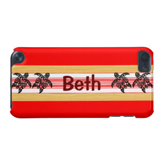 Tribal Honu Red Surfboard iPod Touch 5G Case