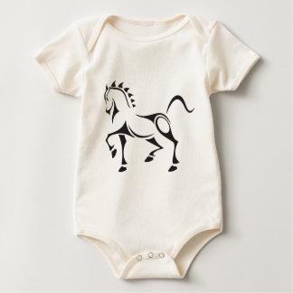 Tribal-Horse Baby Bodysuit