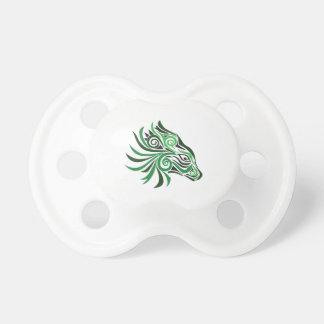 Tribal Horse Tattoo Green Black BooginHead Pacifier