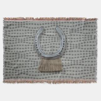 Tribal Horseshoe Blanket Throw