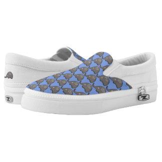 Tribal iconic trendy cute spiral elephants pattern Slip-On sneakers