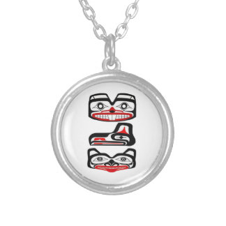 Tribal Identity Silver Plated Necklace