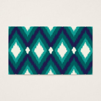 Tribal Ikat Chevron Blank Business Card Template