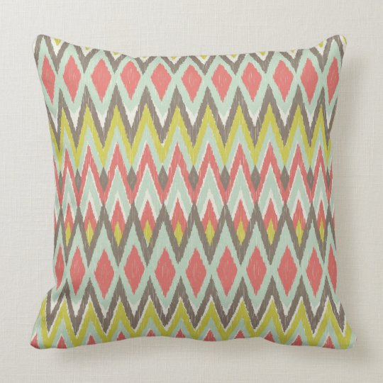 Tribal Ikat Throw Pillow