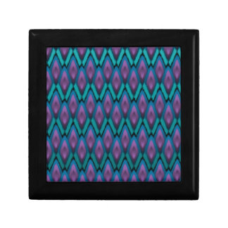 Tribal Ikat Zigzags and Diamonds Pattern Gift Box