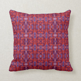Tribal India Red Accent Throw Pillow by JoMazArt©