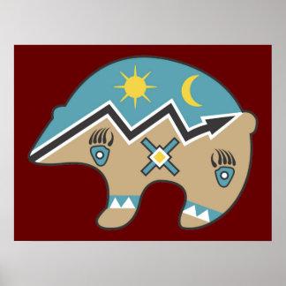 Tribal Indian Bear Print