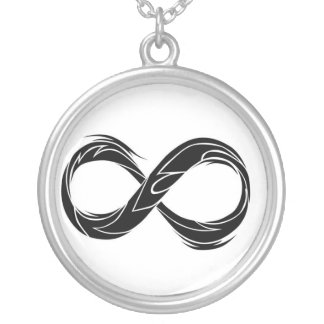 tribal infinity symbol silver plated necklace