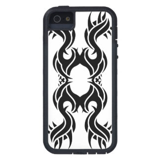 Tribal iphone 10 black over white coques iPhone 5 Case-Mate