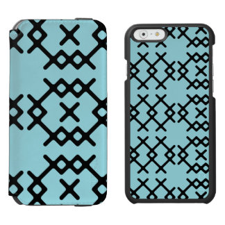 Tribal Island Paradise Blue Nomad Geometric Shapes Incipio Watson™ iPhone 6 Wallet Case