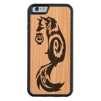 Tribal Kitsune Fox with Spirit Lantern Carved Cherry iPhone 6 Bumper Case