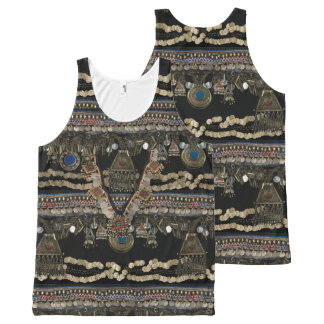 Tribal Kuchi Belly Dance All-Over-Print Tank Top