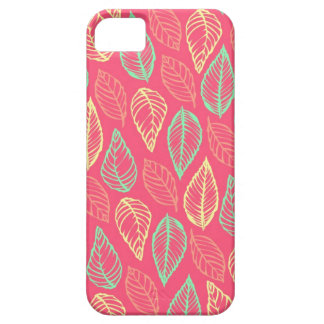 Tribal leaves batik rustic chic hot pink pattern iPhone 5 covers