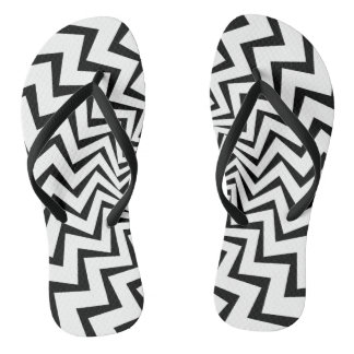 Tribal Lightning Bolt Flip Flops
