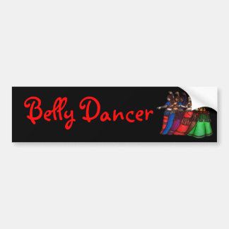 Tribal Line Belly Dancer Bumper Sticker