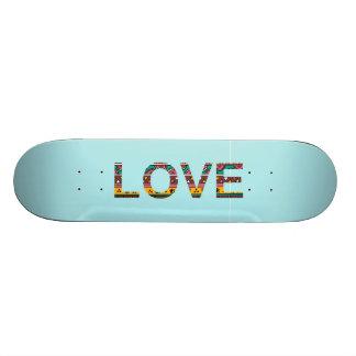Tribal Love Word Art Skateboards
