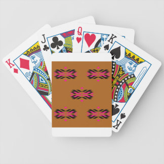 Tribal luxury pattern Brown / Aztecs Bicycle Playing Cards